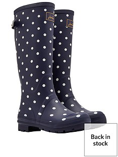 joules-printed-adjustable-back-gussetnbspwelly-navy-spot