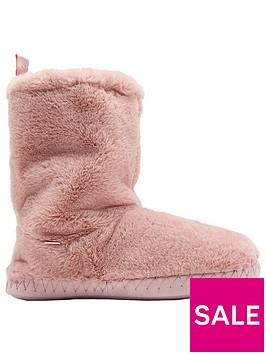 joules-homestead-luxe-faux-fur-slippersock-slipper-pink