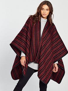 v-by-very-nina-textured-knit-cape-redblack