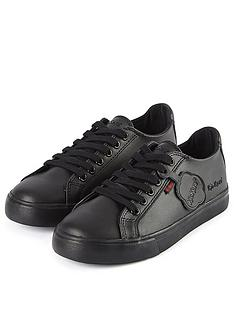 kickers-tovni-leather-lace-plimsoll-black