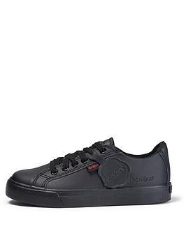 kickers-tovni-leather-lace-plimsoll-black