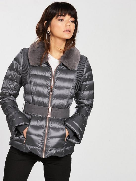 c5e61505f Ted Baker Ted Baker Yelta Faux Fur Collar Down Jacket