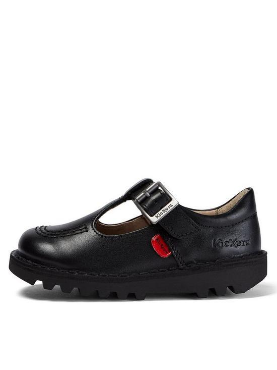 edfd4de5 Kickers Kids Kick T Leather Shoes - Black | very.co.uk