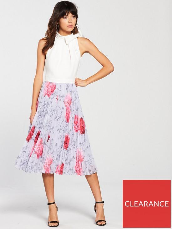 6c1f0294a Ted Baker Cornala Pleated Dress- Floral Print