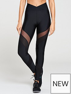 michelle-keegan-mesh-panel-gym-legging-black