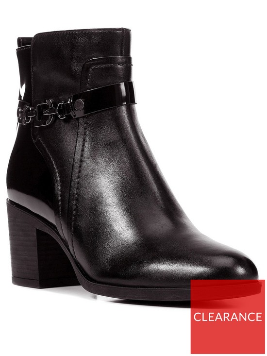 f886366407894 Geox D Glynna B Leather Ankle Boot