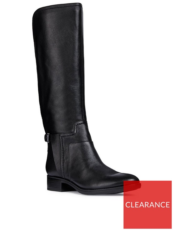 Geox D Felicity B Leather Knee Boot  10a4ee0d646