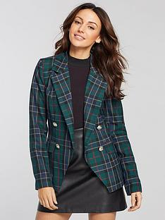 michelle-keegan-checked-double-breasted-blazer