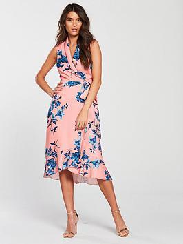 Phase Eight Felita Floral Print Dress - Coral