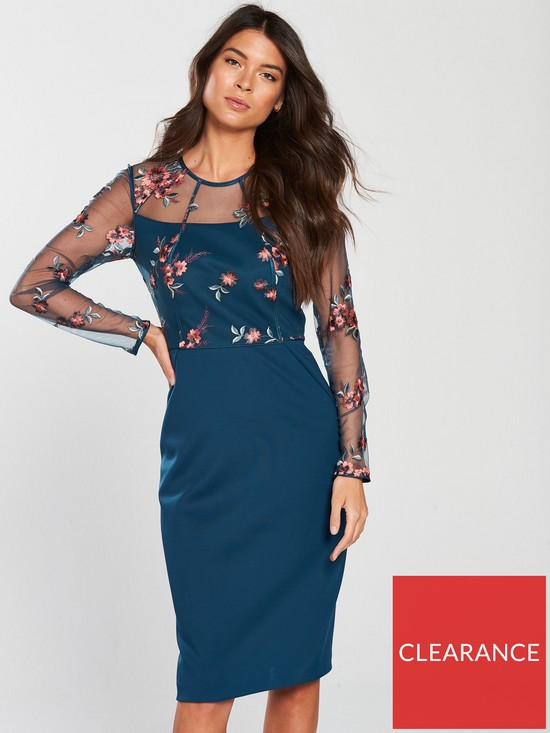 bc2a7837731b9 Phase Eight Felice Embroidered Dress - Peacock | very.co.uk