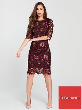 phase-eight-belle-lace-dress-claret