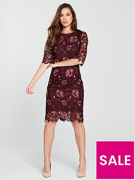 phase-eight-belle-lace-dress-claretnbsp