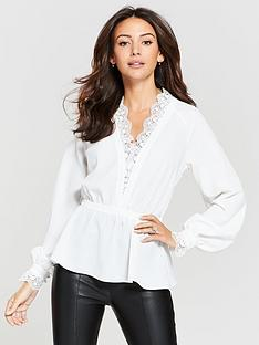 michelle-keegan-lace-trim-blouse-ivory
