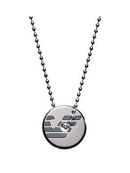 emporio-armani-emporio-armani-gunmetal-stainless-steel-blue-logo-pendant-mens-necklace
