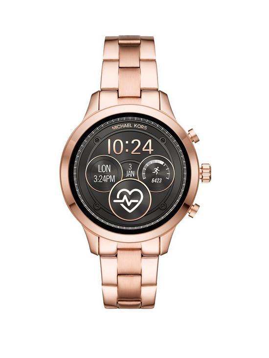 db7b03b7ac1e MICHAEL KORS Michael Kors Runway Display Rose Gold Tone Stainless Steel  Bracelet Ladies Smartwatch