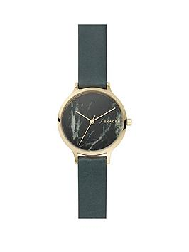 skagen-skagen-anita-gold-tone-case-with-natural-marble-stone-dial-and-green-leather-strap-ladies-watch