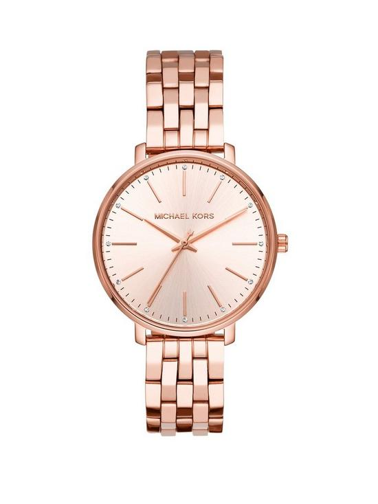 eec7c1ee56e8b MICHAEL KORS MK3897 Pyper Rose Gold Tone Bracelet Ladies Watch ...