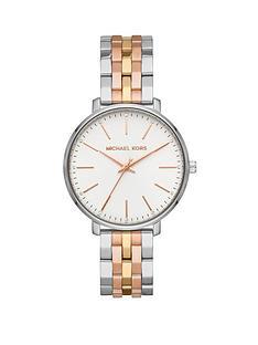 2566c957e9f9 MICHAEL KORS MK3901 Pyper Tri Tone Stainless Steel Bracelet Ladies Watch