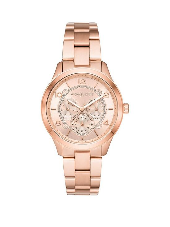 f1bc6c19a31d MICHAEL KORS MK6589 Runway Rose Gold Tone Stainless Steel Bracelet Ladies  Watch