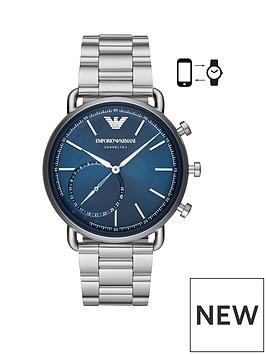 emporio-armani-emporio-armani-blue-dial-stainless-steel-dress-bracelet-mens-hybrid-smartwatch