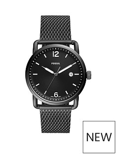 fossil-fossil-commuter-3-hand-black-ip-stainless-steel-mesh-bracelet-watch