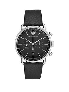 emporio-armani-stainless-steel-dress-leather-strapnbspmensnbspwatchnbsp