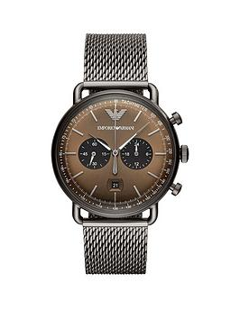 emporio-armani-gunmetal-stainless-steel-dress-mesh-bracelet-mens-watch