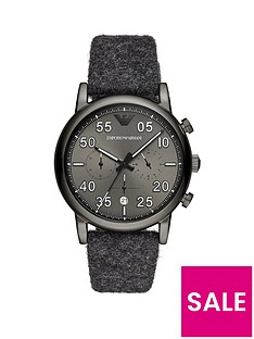 emporio-armani-gunmetal-stainless-steel-fashion-mens-fabric-strap-watch