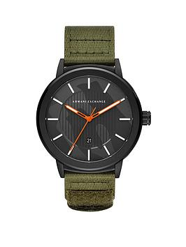 armani-exchange-armani-exchange-black-stainless-steel-and-green-nylon-strap-mens-watch