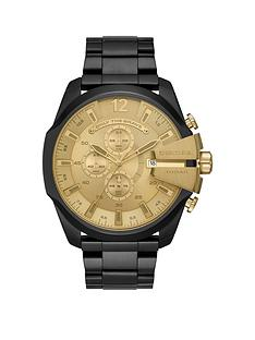 diesel-diesel-mega-chief-black-ip-stainless-steel-watch-with-gold-dial-mens-watch