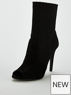 v-by-very-flick-peep-toe-high-heel-knitted-sock-boot-blacknbsp
