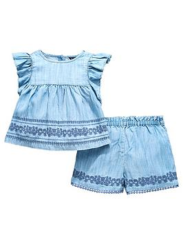 mini-v-by-very-tencel-embroidered-co-ord-short-set