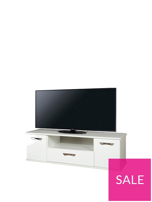best website 5c045 cc645 Neptune Ready Assembled White High Gloss TV Unit - fits up to 65 inch TV