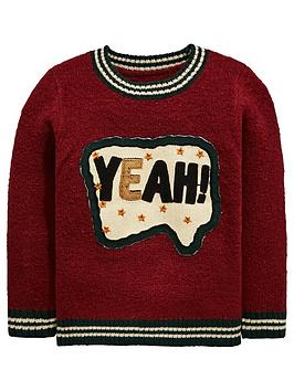 mini-v-by-very-boys-yeah-slogan-sequin-knitted-jumper-burgundynbsp