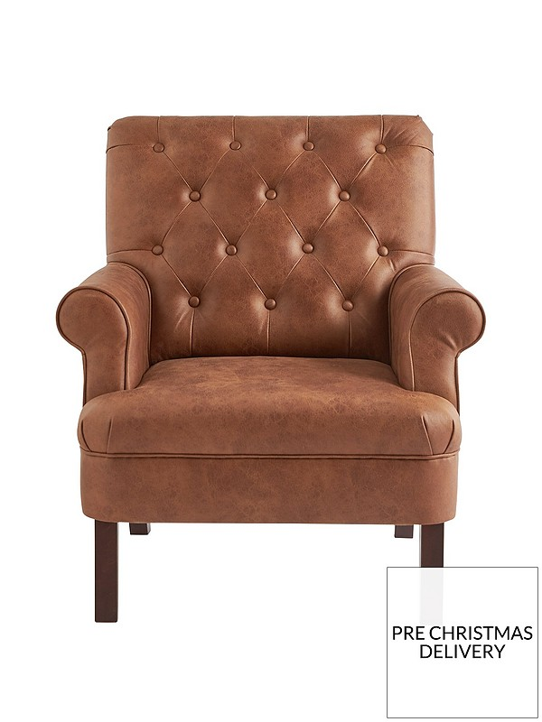 Brilliant Kit Faux Leather Accent Chair Ocoug Best Dining Table And Chair Ideas Images Ocougorg