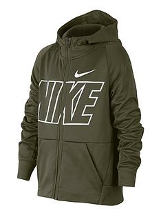nike-older-boys-therma-full-zip-gfxnbsphoodie-olivenbsp