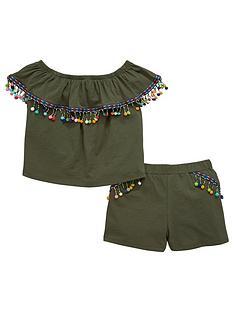 v-by-very-girls-khaki-co-ord-pom-pom-outfit