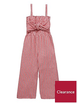v-by-very-girls-stripe-bow-culotte-jumpsuit