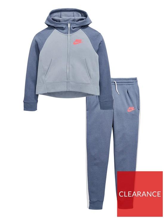f640ad0c8 Nike Sportswear Older Girls PE Tracksuit - Slate