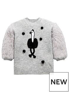 mini-v-by-very-girls-ostrich-pom-pom-eyelash-knit-jumper