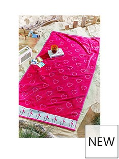 catherine-lansfield-flamingo-beach-towel