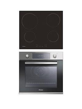 candy-fcp605xl-ch64ccb-single-60cm-oven-amp-ceramic-hob-pack-blackstainless-steel