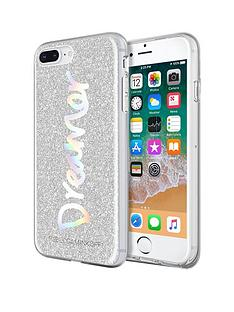 rebecca-minkoff-be-more-transparent-case-for-iphone-8-plus-iphone-7-plus-dreamer-silver-glitterholographic-foil
