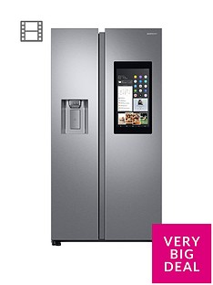 samsung-rs68n8941sleu-family-hub-style-frost-free-fridge-freezer-with-plumbed-ice-water-dispenser-and-5-year-samsung-parts-and-labour-warranty--nbspaluminium-finish