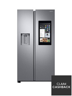 Samsung RS68N8941SL/EU Family Hub Style Frost Free Fridge Freezer with Plumbed Ice, Water Dispenser-Aluminium Finish