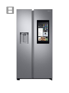 Samsung RS68N8941SL/EU Family Hub Style Frost Free Fridge Freezer with Plumbed Ice, Water Dispenser - Aluminium Finish