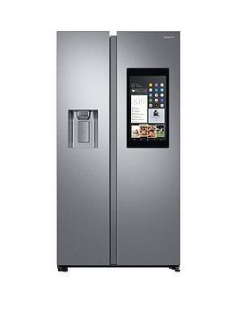 Samsung Rs68N8941Sl/Eu Family Hub Style Frost Free Fridge Freezer With Plumbed Ice, Water Dispenser And 5 Year Samsung Parts And Labour Warranty - Aluminium Finish