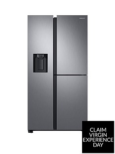 Samsung RS68N8670S9/EU French Door Frost Free Fridge Freezer with Plumbed Ice and Water Dispenser - Matt Silver