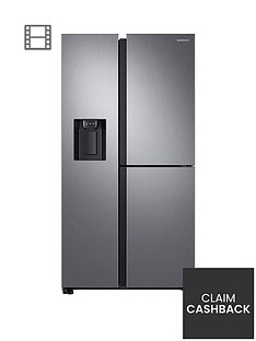 samsung-rs68n8670s9eu-french-door-frost-free-fridge-freezer-with-plumbed-ice-water-dispenser--nbspmatt-silver-doorstep-delivery-only