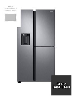 Samsung RS68N8670S9/EU French Door Frost Free Fridge Freezer with Plumbed Ice, Water Dispenser -Matt Silver Best Price, Cheapest Prices